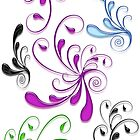 Super Swirls - White Background by sandnotoil