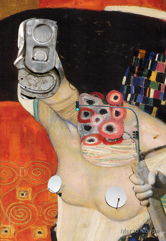 Klimt´s Judy Collage 1 by Marko Köppe