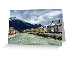 The Inn River-Innsbruck. Greeting Card
