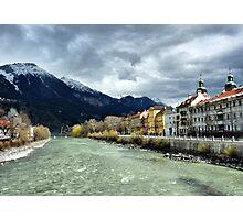 The Inn River-Innsbruck. Photographic Print
