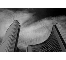 Stuttering Over City Hall Photographic Print