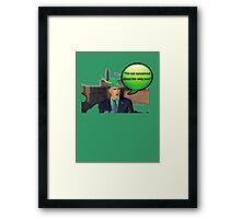Mitt Romney i'm not concerned about the very poor robin hood 2012 Framed Print