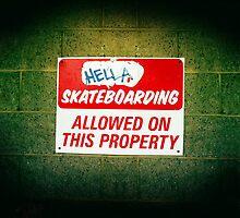 Hella Skateboarding Allowed by hollingsworth