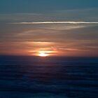 Sleeping Sun over the Pacific Ocean by cjfehr