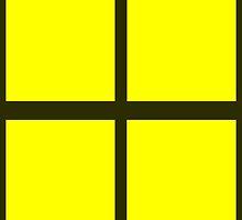 Yellow Rectangles by Paula J James