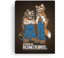 Super Redneck Bros. Canvas Print