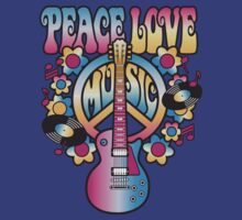 Peace, Love and Music in Bright Colors by Lisann