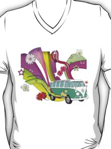 60's Van with Foulli and Gerbera in White T-Shirt
