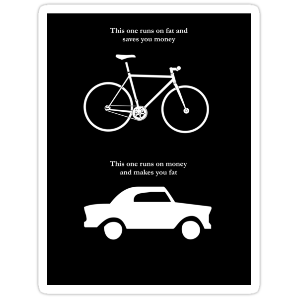 Bike V's Car Sticker by Colin Wilson