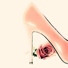 Pink Heel and Rose  by Andreka