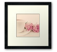 Coffee and Roses  Framed Print
