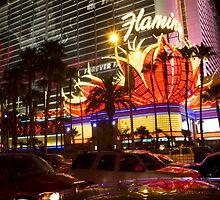 Flamingo Hotel on The Las Vegas Strip by Sven Brogren