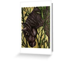 Horse in Bamboo Greeting Card