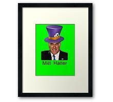 Mitt Romney 2012 mad Hatter Framed Print