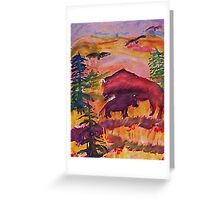 Let the Buffalo roam, Southwestern theme series, watercolor Greeting Card