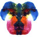 Dog head splat by Jacqueline Eden
