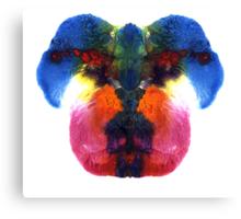 Dog head splat Canvas Print