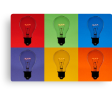 Composition of Floating Bulbs Canvas Print