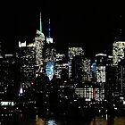 New York City Night Sky by Lilliana Méndez