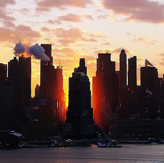 Winter Sunrise New York City by Lilliana Méndez
