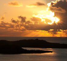 Gilded Dusk - Pohnpei, Micronesia by Alex Zuccarelli