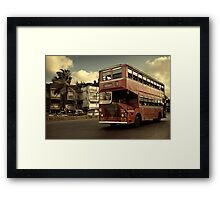 Bombay Bus Framed Print