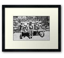 Three Italian Brothers-Pienza, Italy Framed Print