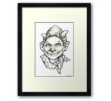 """The Little Devil"" Framed Print"