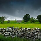 Coverdale Barn just before a storm by James Elkington