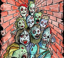 back alley zombie horde by byronrempel