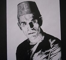 Boris Karloff by Mike Calhoun