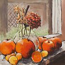 Tomatoes In A Sunny Window by Michael Beckett