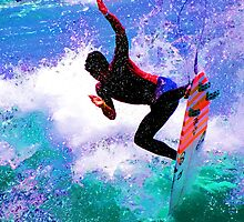 Gabriel Medina Surfing the US Open Huntington Beach 2012 by surfcityres