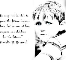 Children are the future - Inspirational Greeting card or print by Scott Mitchell