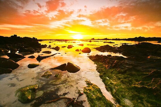 Sunset at Pearly Beach by AntonAlberts