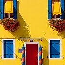 Burano, Venice lagoon - the yellow house by Luisa Fumi