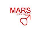 Mars Warrior Symbol iPhone4/4S Case by syaorankung