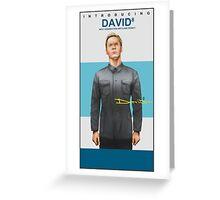Michael Fassbender as David 8 Greeting Card