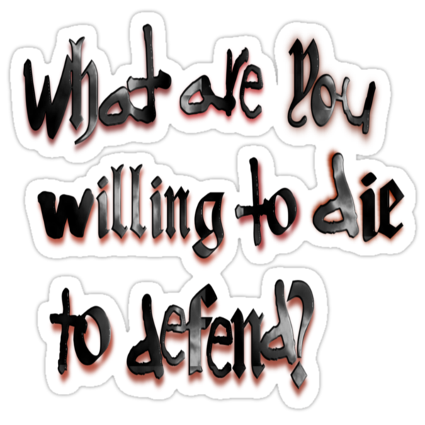 Die to Defend by SocJusticeInk