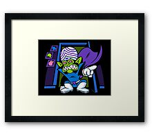 Evil Mojo in our Closet Framed Print
