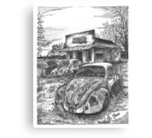 VW junkyard Canvas Print