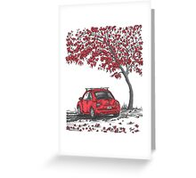 LOVE BUG     red Greeting Card