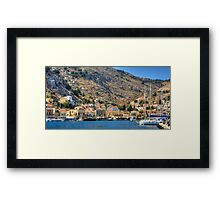 End of the Harbour Framed Print