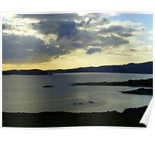 Late Evening On The Donegal Atlantic Drive Poster
