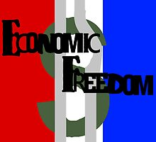 Economic Freedom in Red White and Blue by SocJusticeInk