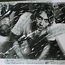 Kurt Cobain Transfer Canvas with Journals Quotes by GrungeBaby