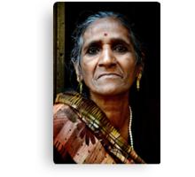 A Woman in Kolkata Canvas Print
