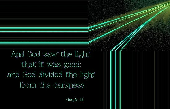 God Divided the Light from the Darkness by aprilann