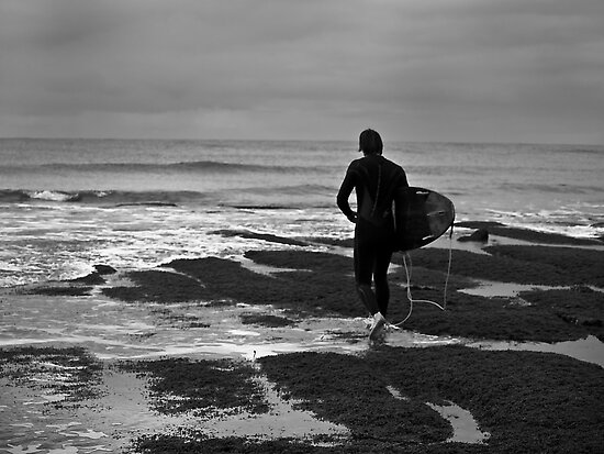 Lone surfer by Andrew (ark photograhy art)