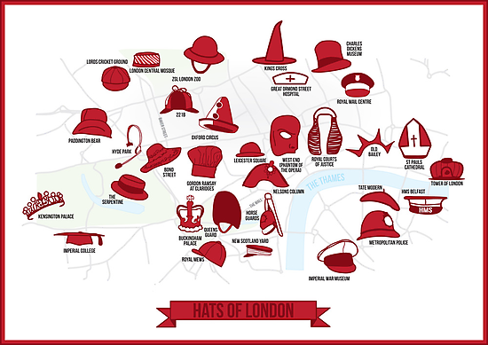 Hats of London by LeapandiDesign
